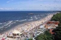 plaża, morze, kołobrzeg